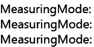 MeasuringMode comparison